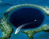 Featured Travel Photo - the Great Blue Hole, approx. 480 ft. in depth
