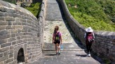 Featured Travel Photo - Hiking the Great Wall with a local saleslady I met